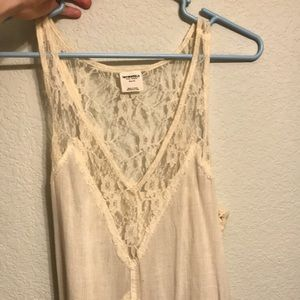 XS Lace Cream Free People Top. Western Feel to it.